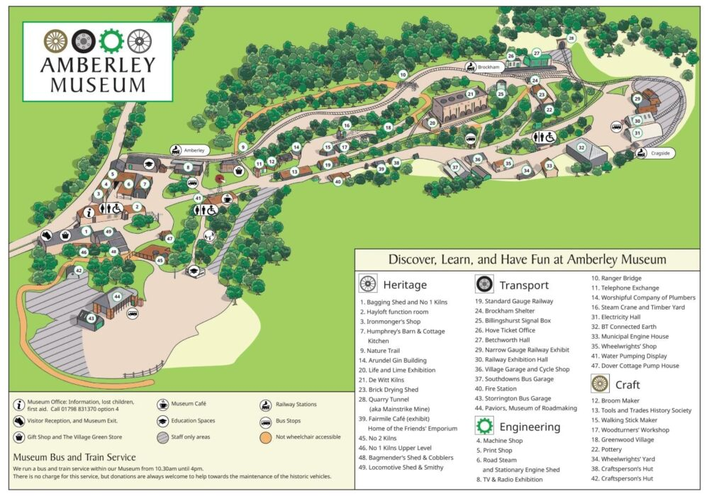 a map of Amberley Museum