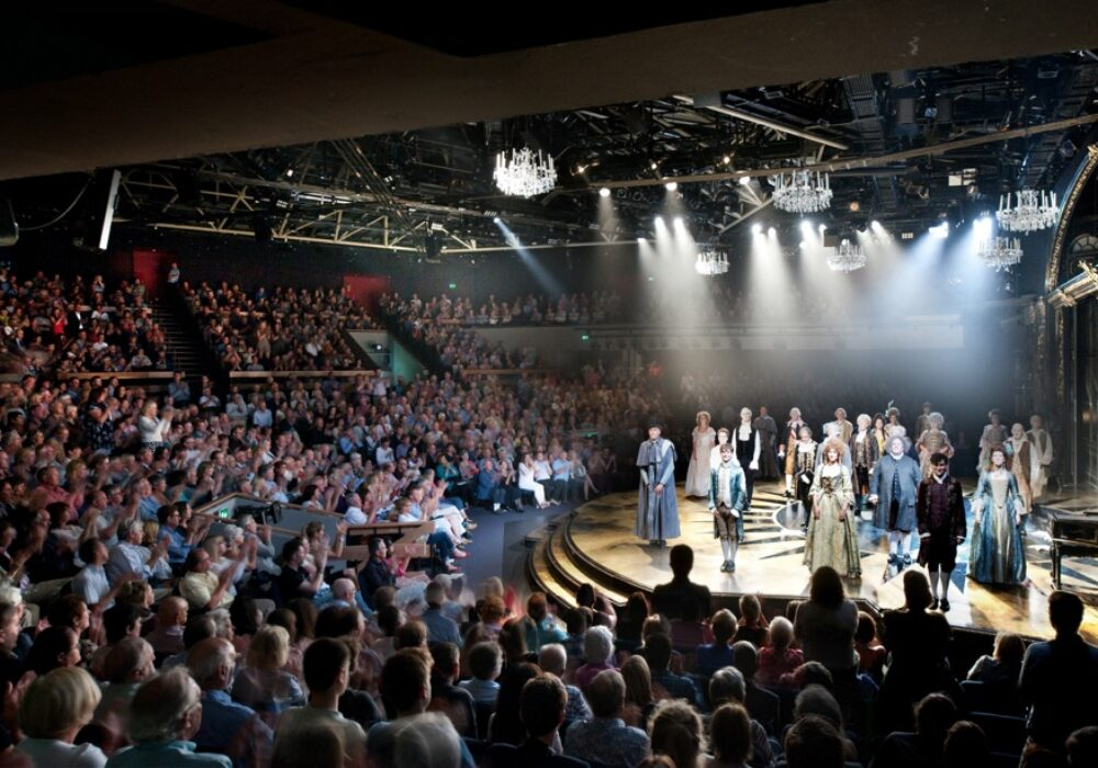 An image showing actors on stage during a past performance at Chichester Festival Theatre