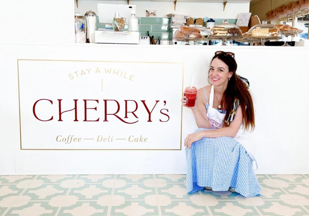 An image of lifestyle author Cherry Menlove at her deli in Petworth