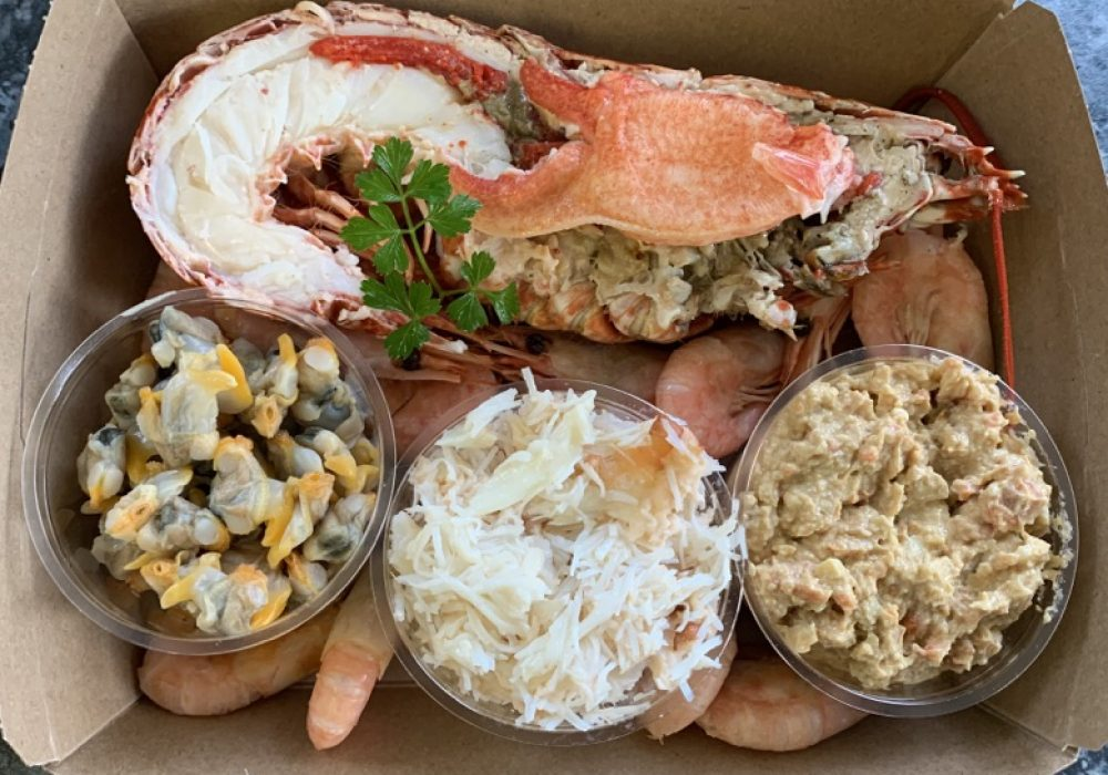 An image of a seafood platter from Potters of Selsey