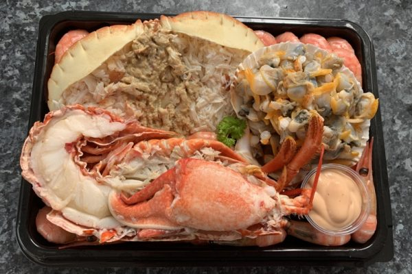An image showing a seafood platter from Potters of Selsey