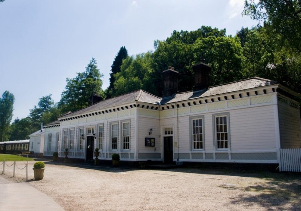 An image showing the exterior of The Old Railway Station B&B near Petworth