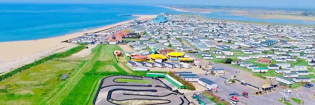 An aerial image of Bunn Leisure holiday park, Selsey