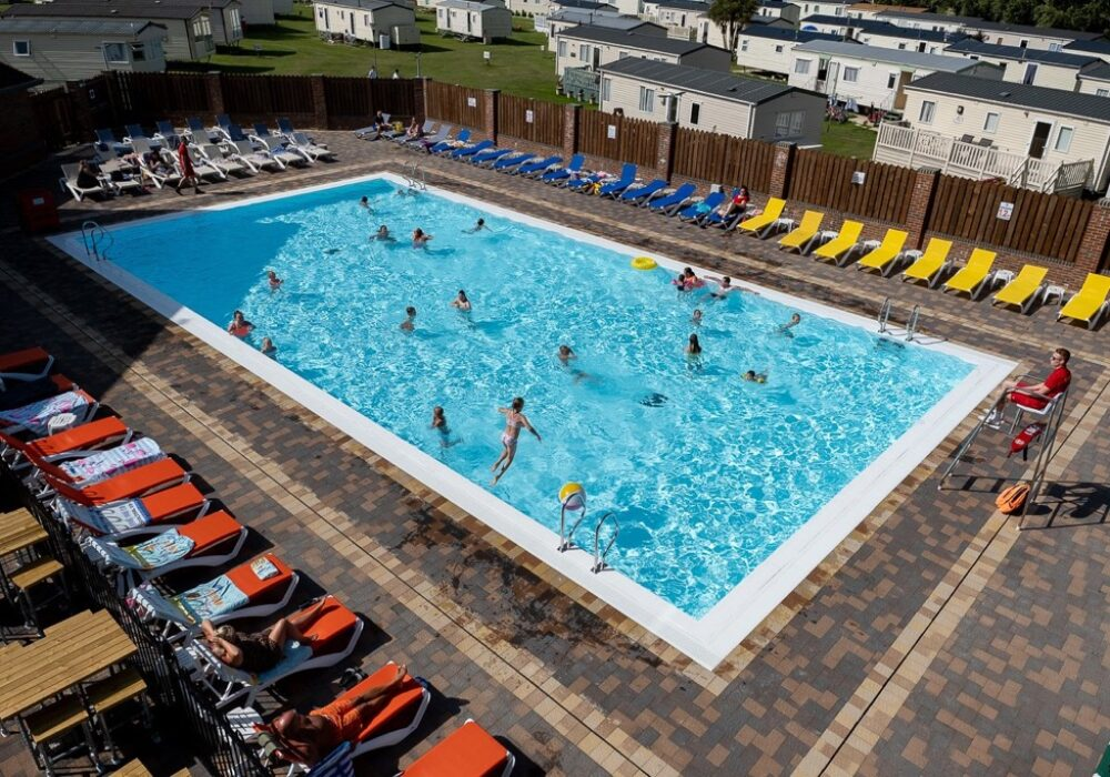 An image showing the outdoor swimming pool at Bunn Leisure, Selsey