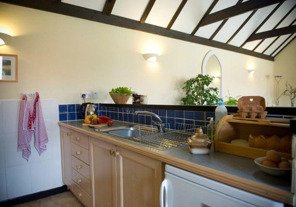 Kitchen area at Canute Cottages