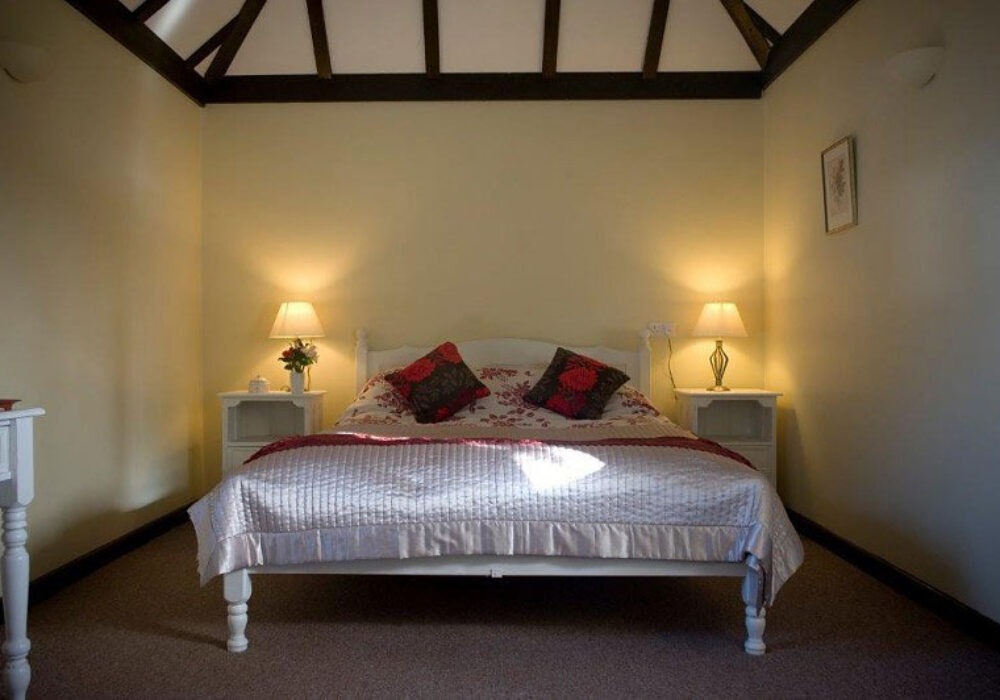 Double bedroom at Canute Cottages