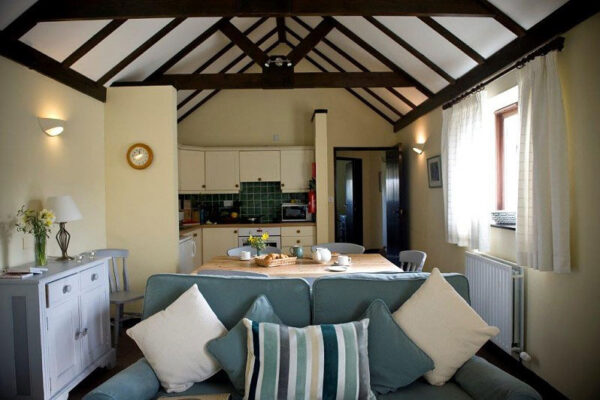Living space at Canute Cottages
