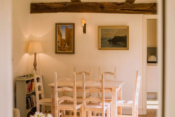 Dining area at Cowdry Cottages