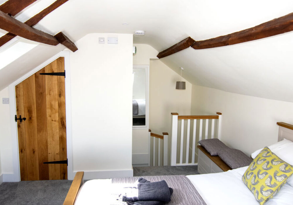 En-suite double room at The Cricketers