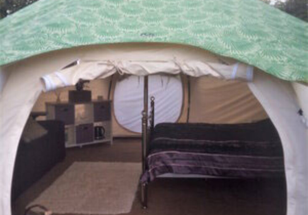 Bell tent at Greenland Glamping