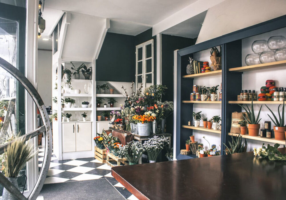 Hedge Rose shop interior. Photograph by Heather White Photography