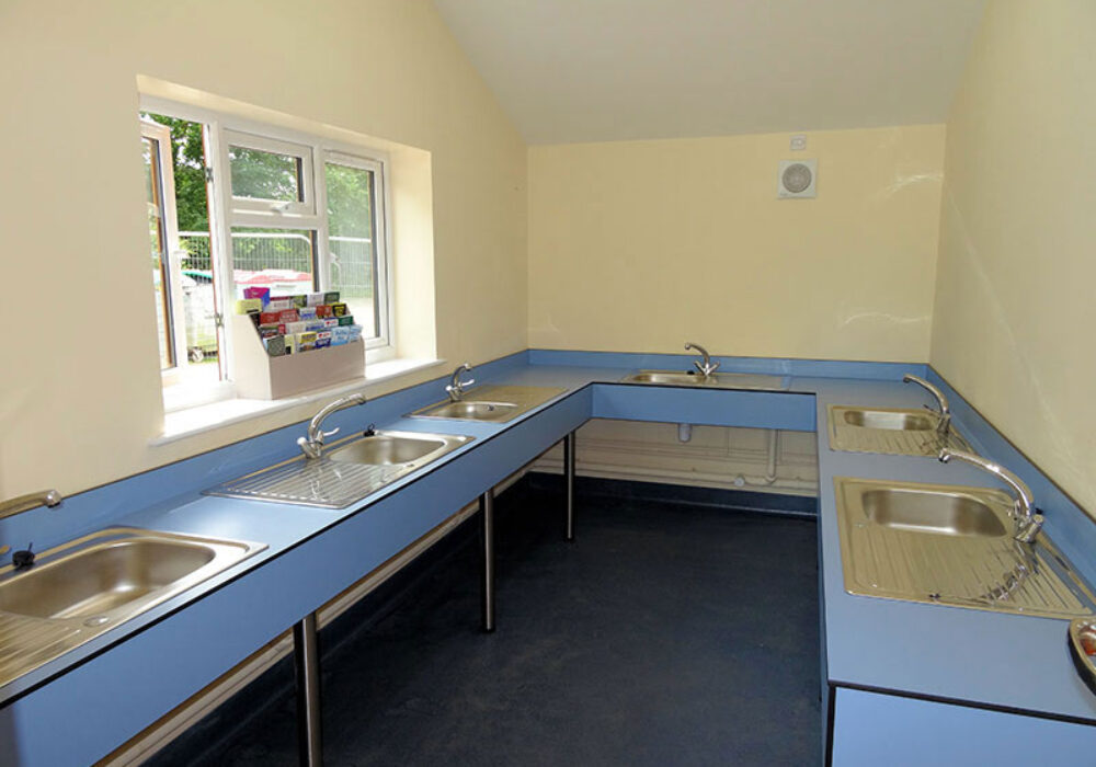 Stubcroft Farm washing up facilities