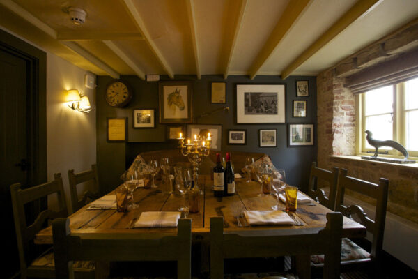 Dining area at The Welldiggers Arms