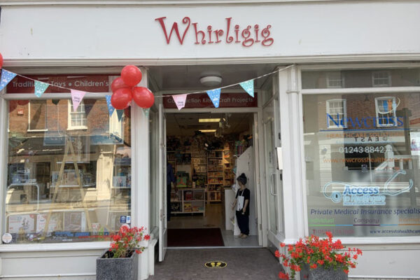 Whirligig Chichester shop front