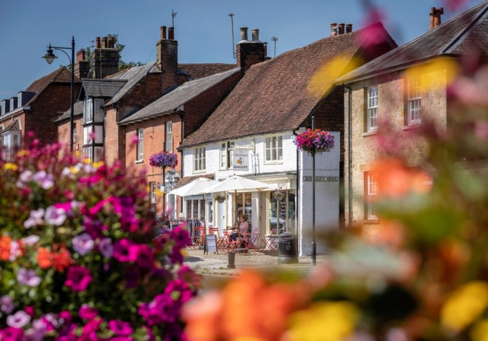 A view of shops in Midhurst, West Sussex