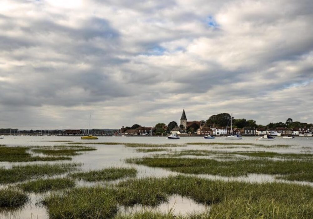 A view of Bosham Village taken from across the water