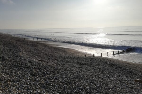 A photo showing East Wittering beach in winter