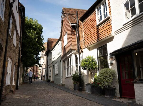 A view of Lombard Street, Petworth, West Sussex