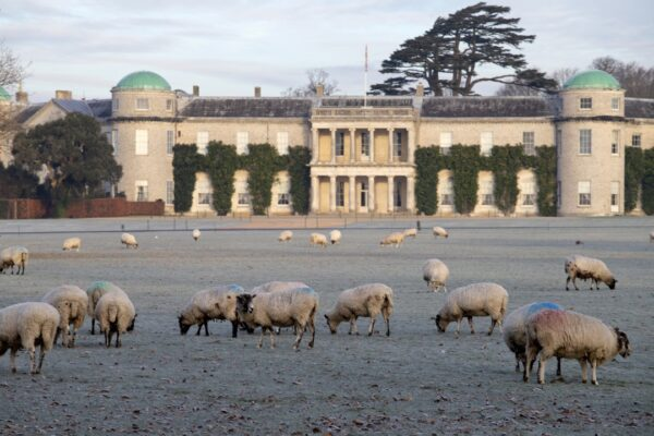 An image showing a view of Goodwood House, near Chichester, West Sussex