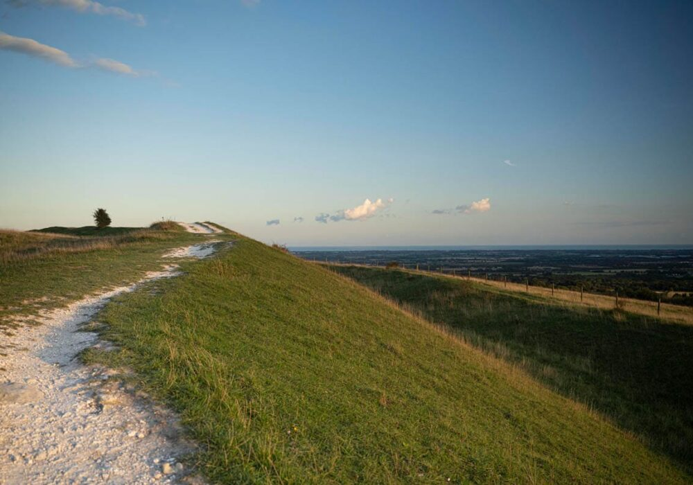 A photo showing a view from The Trundle near Chichester West Sussex