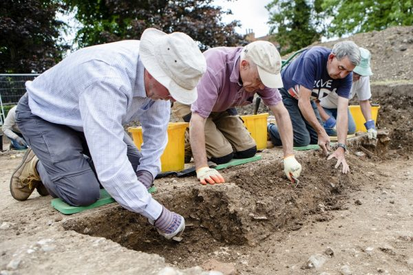 An image showing a previous archaeological dig in Chichester's Priory Park