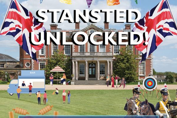 An advertisement for Stansted Park Unlocked July 2021