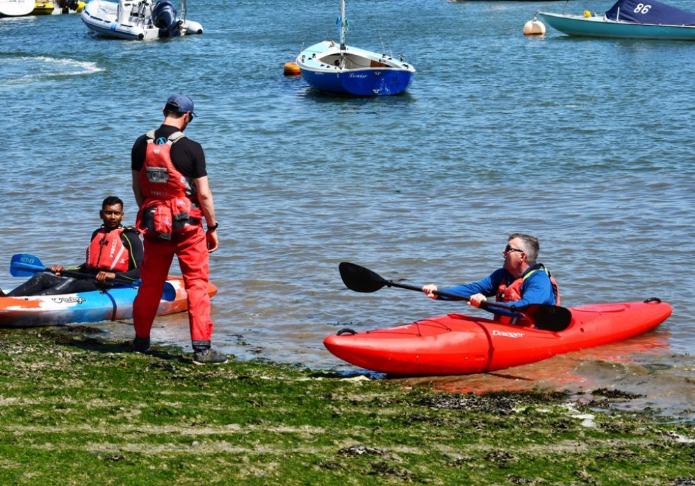 an image of a person in a canoe in Chichester Harbour