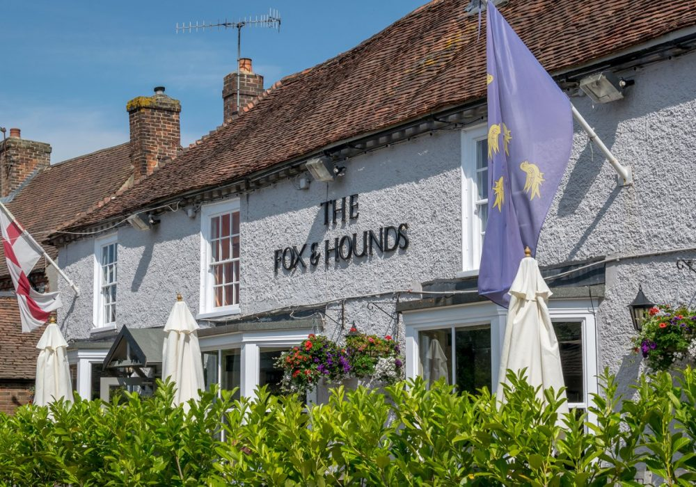 An image showing the exterior of The Fox & Hounds, Funtington