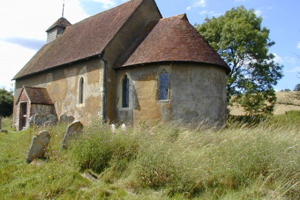 An image showing St Mary the Virgin Church at Upwaltham, West Sussex