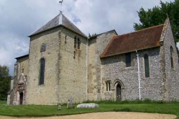 An image showing St Mary's church, Stoughton, West Sussex