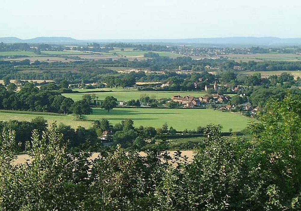 An image showing the view from Duncton Hill across the Rother Valley
