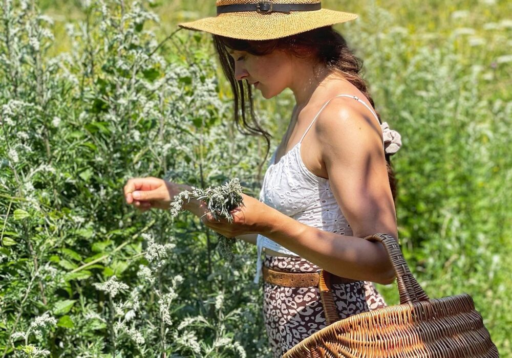 An image of a person foraging