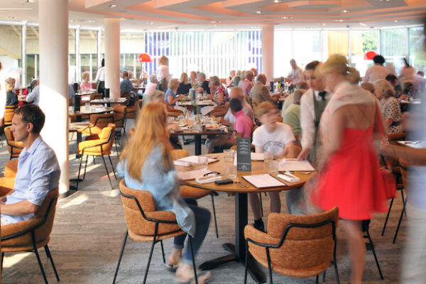 An image showing the interior of The Brasserie at Chichester Festival Theatre