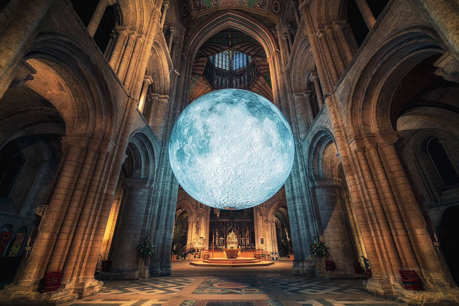A photo showing Museum of the Moon at Ely Cathedral