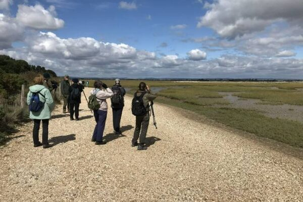 An image of birdwatchers at Pagham Harbour