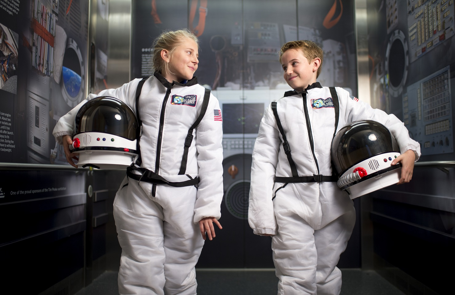 a picture of children in space suits